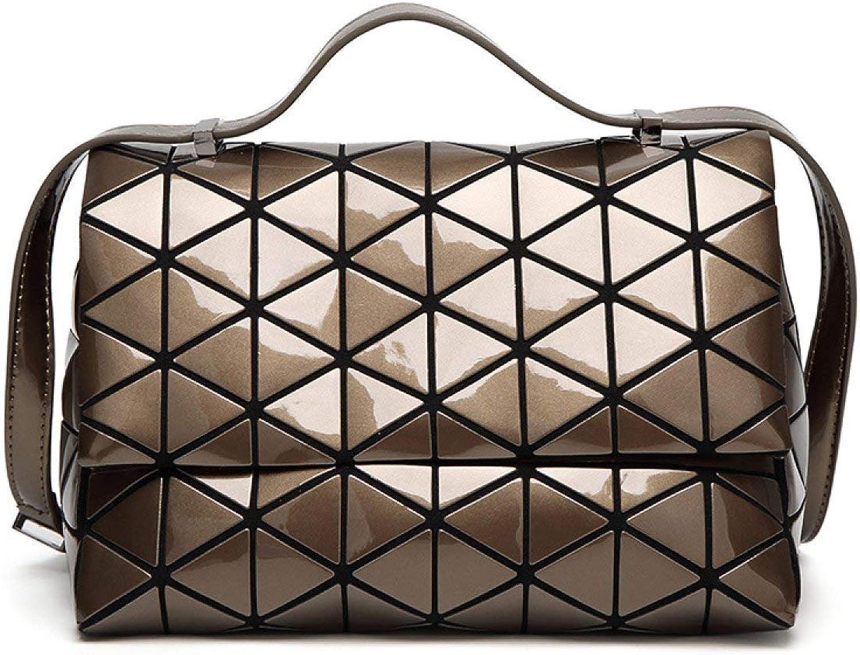 Lounayy Umhängetasche Geometrische Tasche 2019 Geeignet Style Pyramide Matt Dreieckige Tasche Handtasche Weiblich Mode Temperament Dame Bag (Farbe   GunFarbe, Größe   One Größe) B07QGDP4BL