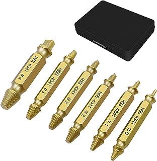 ドリルビットセット 6本セット ネジを簡単除去 ネジ外しビット 折れたボルト 潰れたネジ外し抜き ネジ抜き 専用工具 修理用工具 収納ケース付き