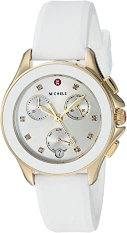 Michele - 34.5mm, Cape Chrono Gold/White