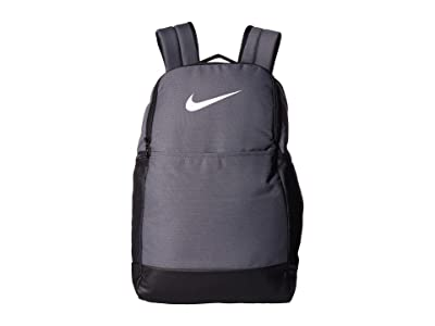 Nike Brasilia Medium Backpack 9.0 (Flint Grey/Black/White) Backpack Bags