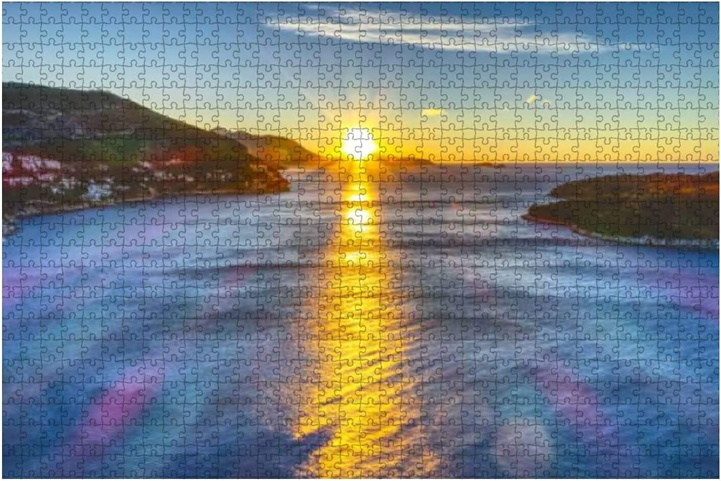 1000 Pieces-Sunrise at Dubrovnik Morning Limited time trial price Town of Over item handling ☆ Stock Old View