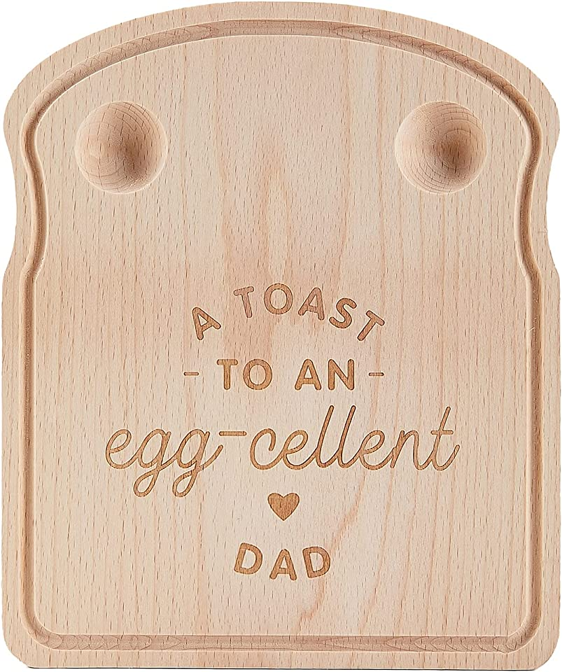 Wooden Eggs Board, Dippy Egg Cup Board, Daddy Breakfast Egg Board Personalised for DadBirthday Gifts, Fathers Day Gifts, Thank You Present, A Toast to an Egg-cellent Daddy