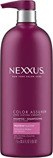 Nexxus Color Assure Shampoo For Enhanced Vibrancy of Color-Treated Hair ProteinFusion Silicone Free and Sulfate Free Shampoo with Pump 33.8 oz