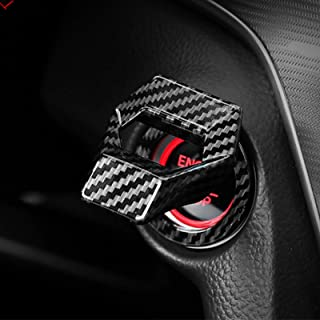 دکمه شروع و توقف موتور Ramecar Universal Motor دکمه کنترل قدرت و آلیاژ آلومینیوم کنترل قدرت برای هوندا Civic Accord CRV XRV Dodge Challenger Charger Toyota CHR (فیبر کربن سیاه)