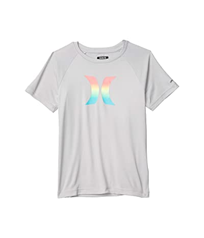 Hurley Kids Ombre Icon UPF Shirt (Big Kids) (Grey Heather) Boy