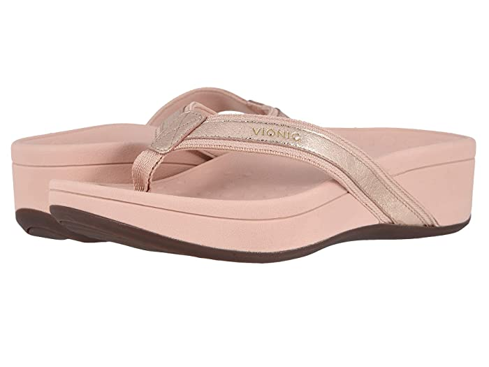 VIONIC  High Tide Metallic (Rose Gold) Womens Sandals