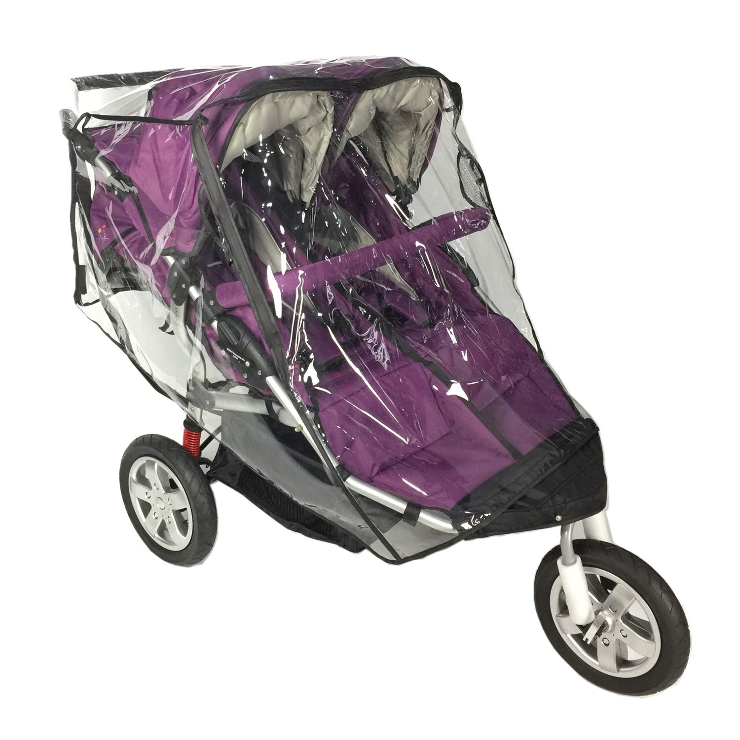 Rain Cover for Double Stroller,Universal Size Weather Shield for Side by Side Double Baby Stroller.
