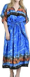 Women's Kaftan Poncho Party Evening Dress Beach Cover Ups Drawstring A