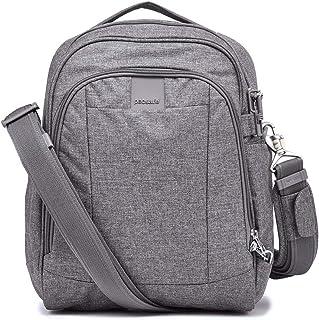 Metrosafe LS250 12 Liter Anti Theft Shoulder Bag-Fits 11 inch Laptop, Dark Tweed Grey