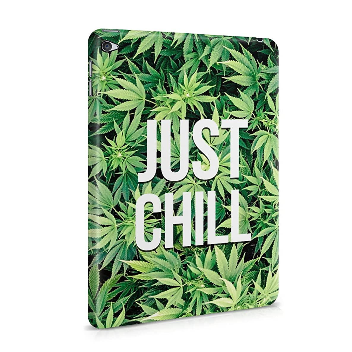 Just Chill Stoner 420 Weed Pattern Mary Jane Plastic Tablet Snap On Back Case Cover Shell For iPad Mini 4