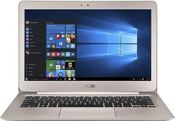 Asus Zenbook UX305LA-FC013T 33 8 cm  13 3 Zoll-FHD  Laptop  Intel Core i7 5500U  8GB RAM  256GB SSD  HD Graphic 5500  Win 10 Home  titanium gold