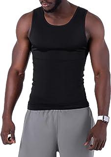 ZENACROSS Canotta Uomo Compressione - T Shirt Uomo Body Brucia Grassi - Canottiera Uomo Effetto Sauna Dimagrante - Magliet...