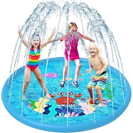 VATOS Splash Pad, Tapete de Juegos de Agua Aspersor de Juego Jardín de Verano Juguete Acuático para Niños Pulverización para Actividades Familiares Aire Libre /Fiesta /Playa /Jardín