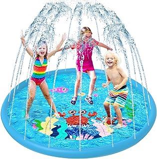 VATOS Splash Pad, Tapete de Juegos de Agua Aspersor de Juego Jardín de Verano Juguete Acuático para Niños Pulverización pa...