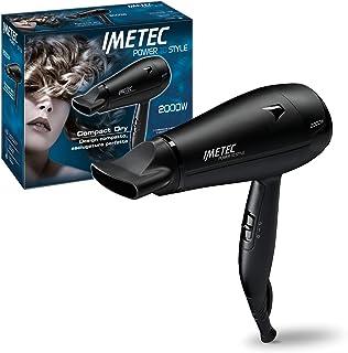 Imetec Power To Style C19 2000 - Secador de pelo, 2000W, boquilla orientable, diseño compacto, secado rápido, 2 combinaciones de aire y temperatura