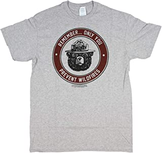 Smokey The Bear Shirt Men's Only You Prevent Wildfires Graphic T-Shirt