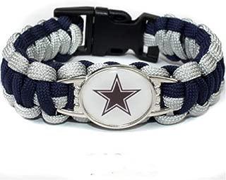 NFL Dallas Cowboys Paracord Bracelet for Women & Men - Paracord Survival Strap Bracelet