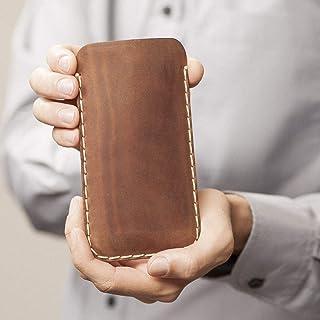 Funda de Cuero Case para el Galaxy S10+ S9+ Marrón