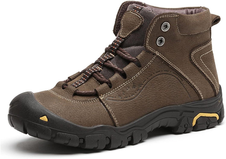 Autumn Outdoor High-top Men's shoes Winter Warm Hiking shoes Waterproof Non-slip Hiking shoes