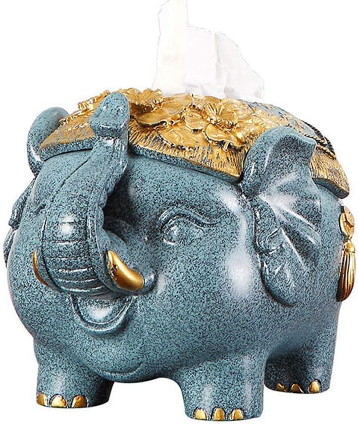 Caja de Pañuelos Elefante Caja de pañuelos Sala de estar Mesa de servilleta de escritorio Minimalista moderno Práctico Bandeja decorativa Caja de almacenamiento de control remoto Dispensador Pañuelos
