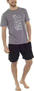 Tom Franks Mens Novelty Cotton Jersey T-Shirt & Shorts Pyjama Lounge Set