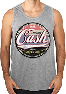 d8a7e2a5387bf Johnny Cash Débardeurs Homme - Original Rock  N  Roll Tank Top