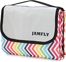 JAMFLY Picnic Outdoor Camping Beach Blanket Mat with Waterproof Backing 78