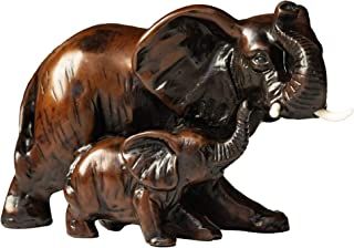 Best IYARA CRAFT Resin feng Shui Elephant Animal Statues - Decorative Elephant Family Statues on Wave - Ideal for Modern & Rustic Settings - Mother and Child of Elephant Animals Figurine Statue Sculpture Review
