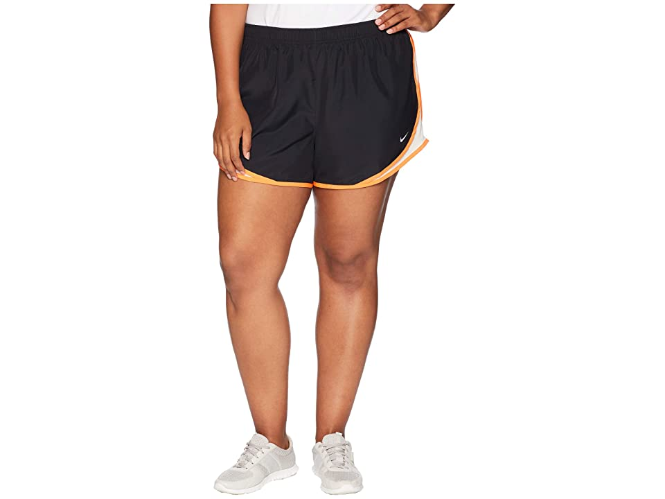Nike Dry Tempo 3 Running Short (Size 1X-3X) (Black/Guava Ice/Cone/Wolf Grey) Women