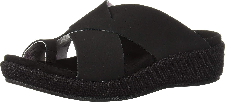 Spenco Women's Oasis Slide Sandal, Black, 8 Medium US