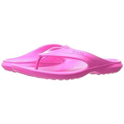 Crocs Classic Flip (Neon Magenta) Slide Shoes