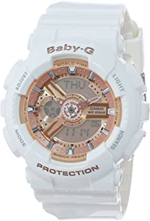 Casio Womens BA-110-7A1CR Baby-G Rose Gold Analog-Digital Watch