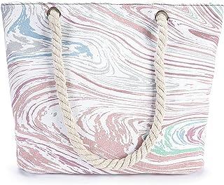 Canvas Bags Large Size Tote Handbag Ladies Casual Graffiti Print Canvas Shoulder Bag Big Rope Beach Bag Essential for dail...