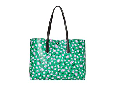 Kate Spade New York Molly Party Floral Large Tote (Green Multi) Bags