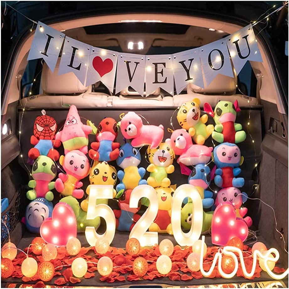 ASKLKD Car Trunk Balloon Decoration 520 Valentine's Day Proposal