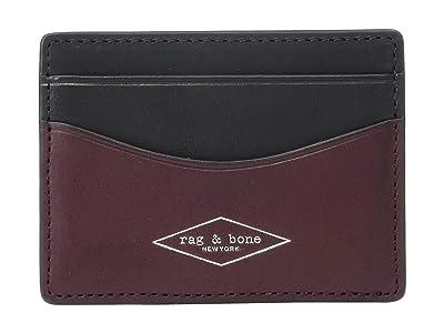 rag & bone Hampshire Card Case (Chianti) Credit card Wallet