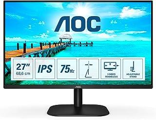 AOC 27B2H - 27 inch FHD-monitor (1920x1080, 75 Hz, VGA, HDMI) zwart