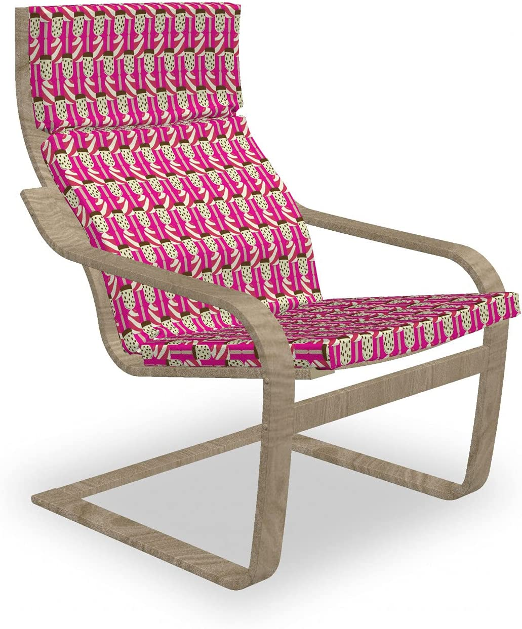 Ambesonne Low price Retro Armchair Max 89% OFF Pad and Ice Des Summer Cream Slipcover