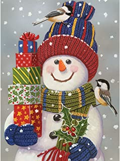 Bits and Pieces - 1000 Piece Jigsaw Puzzle - Snowman with Presents - Snowman Christmas Puzzle - by Artist William Vanderdasson - 1000 pc Jigsaw