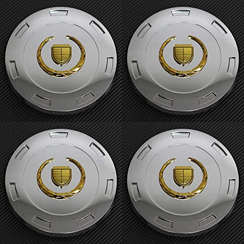 lowest OxGord outlet sale lowest Center Caps for 07-14 Cadillac Escalade ESV/EXT Wheel Covers-Chrome Gold outlet sale