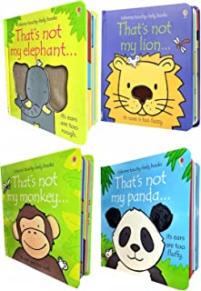 Usborne Thats Not My Animals Collection 4 Books Set Panda, Monkey, Elephant, Lion