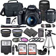 Canon EOS Rebel T7 DSLR Camera Bundle with Canon EF-S 18-55mm f/3.5-5.6 is II Lens + Canon EF...