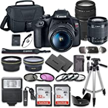 Canon EOS Rebel T7 DSLR Camera Bundle with Canon EF-S 18-55mm f/3.5-5.6 is II Lens +..