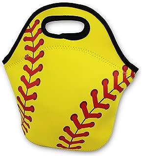 Softball Zipper Cooler Lunch Bag Insulated Gifts Washable Neoprene Travel Beach Sports Girls Camp
