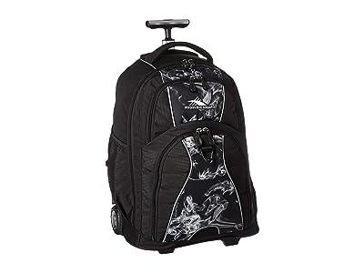 High Sierra Freewheel Wheeled Backpack (Black Vapor/Black) Backpack Bags