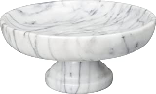 Creative Home 74754 Natural Marble Fruit Bowl on Pedestal, 10