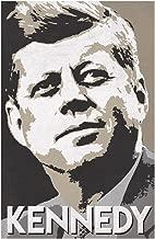 President John F Kennedy Pop Art Portrait Democrat Politics Politician POTUS Tan Cool Wall Decor Art Print Poster 12x18