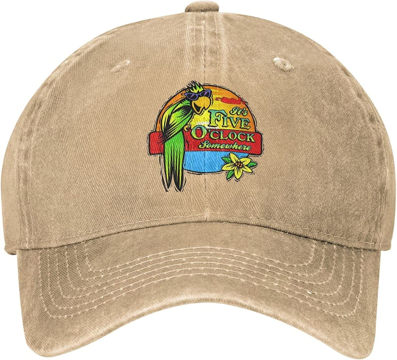 Jimmy Buffet It's Five O'Clock Somewhere Sun Hat Dad Hat Baseball Cap Cotton Adjustable Fitted for Women Men