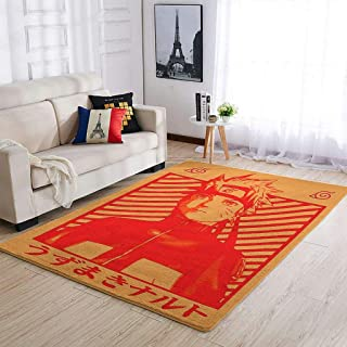 OwlOwlfan Naruto Tapis doux et durable pour intérieur ou extérieur, pour la maison, la cuisine, le café, le bureau, blanc ...
