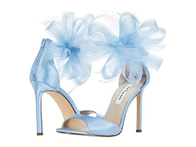 Nina Dalila (Sky Blue Crystal Satin Mesh/Feathers) Women